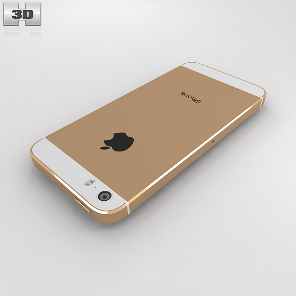 iphone 5s gold apple iphone 5s gold 3d model hum3d 11201