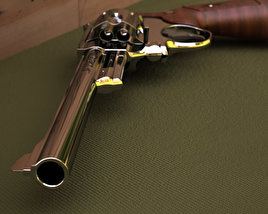 Smith & Wesson Model 29 8 inch 3D model