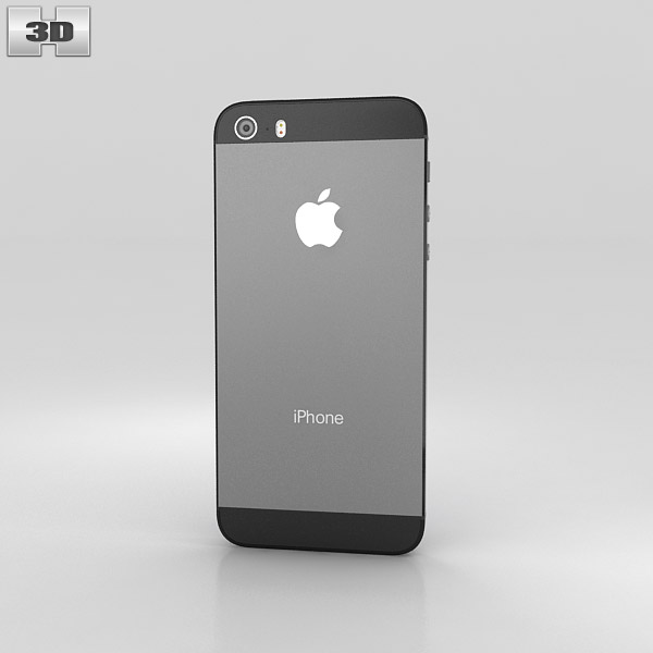 iphone 5s space gray apple iphone 5s space gray black 3d model hum3d 14869