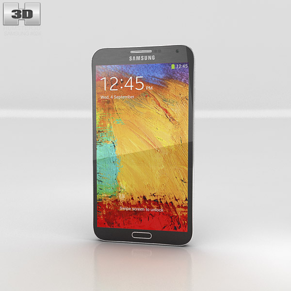 Samsung Galaxy Note 3 Black 3d model
