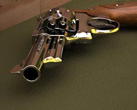 Smith & Wesson Model 29 4 Inc barrel 3D model