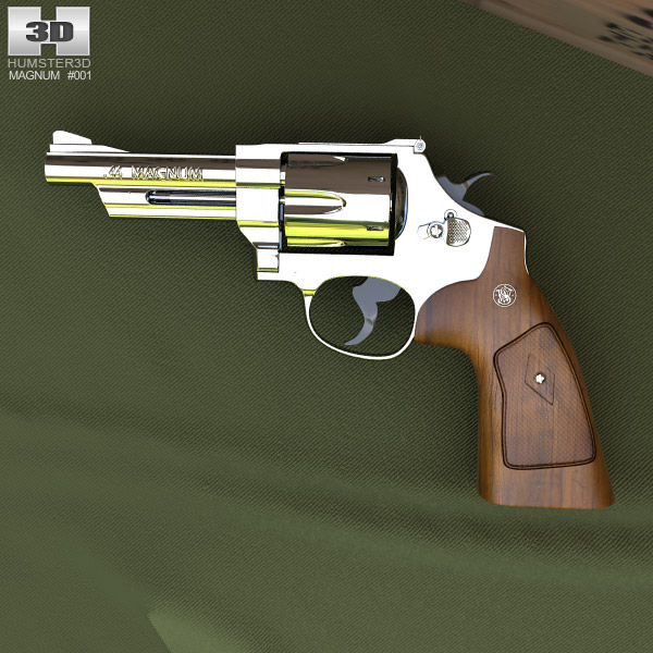 Smith & Wesson Model 29 4 Inc barrel 3d model