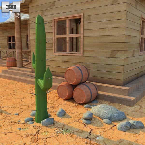 Wild West RailStation House 01 Set 3d model