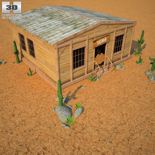 Wild West RailStation Saloon 02 Set 3d model