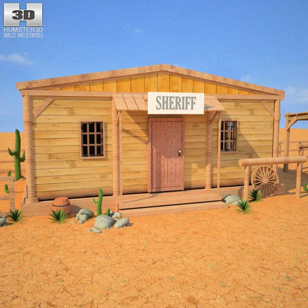 Wild West RailStation Sheriffs Office 03 Set 3d model