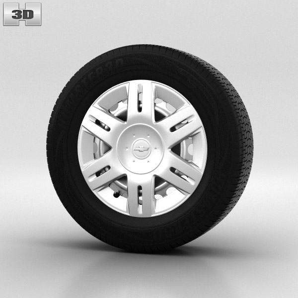Chevrolet Lacetti Wheel 14 inch 001 3d model