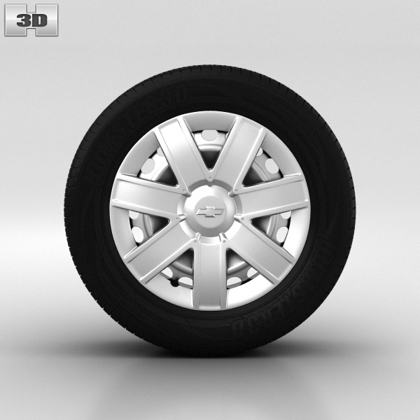Chevrolet Lacetti Wheel 15 inch 001 3d model