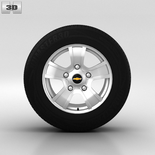 Chevrolet Niva Wheel 16 inch 001 3d model