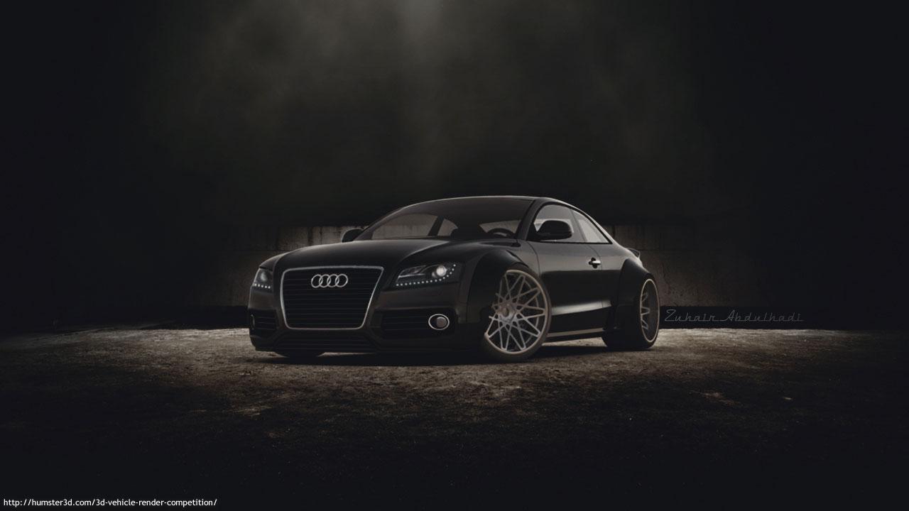 Audi A5 3d art