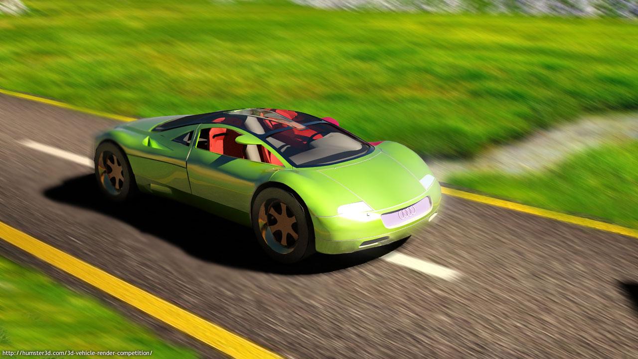 Audi concept 3d art