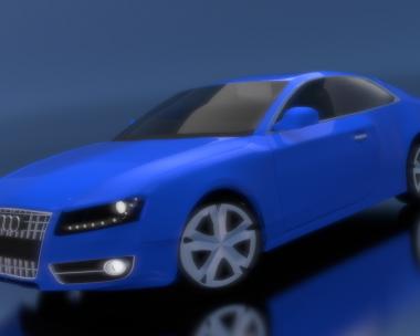 Audi in Blue