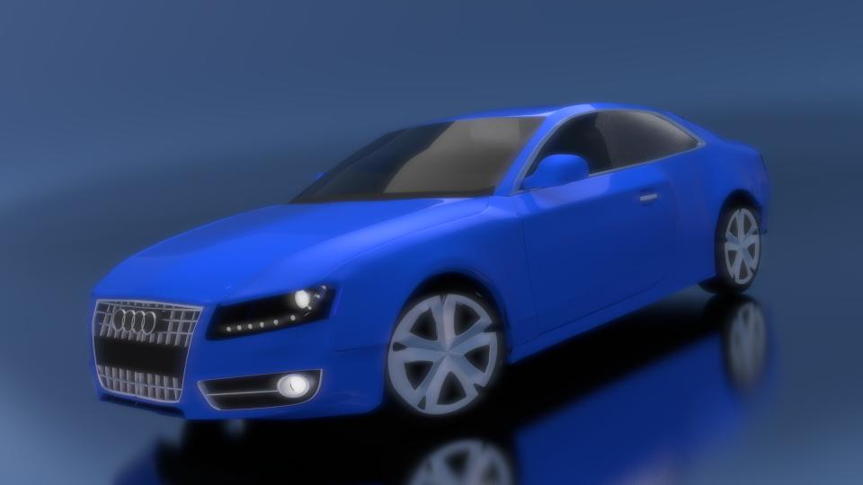 Audi in Blue 3d art