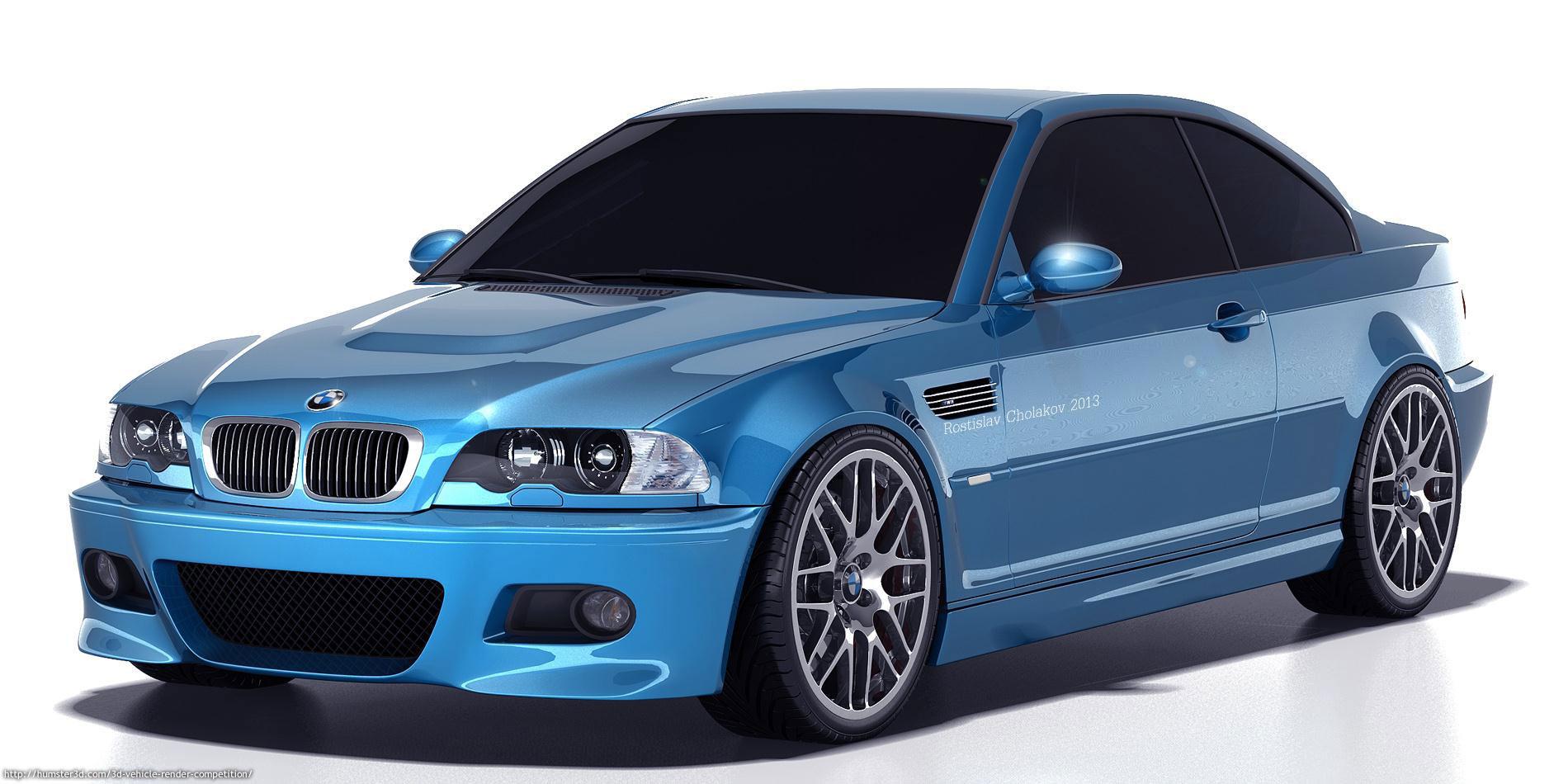 BMW M3 E46 Render 3d art