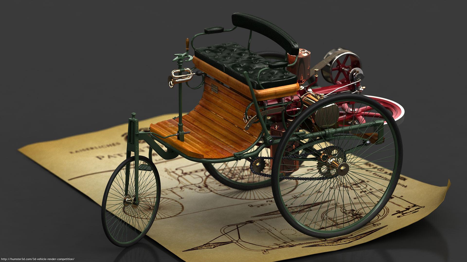 Benz Motorwagen Patent Nr.1 3d art