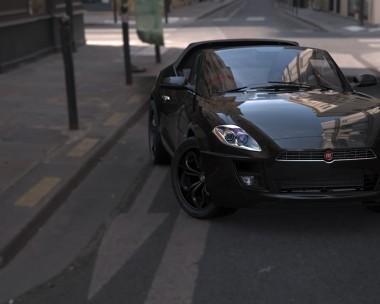 Black Fiat Barchetta