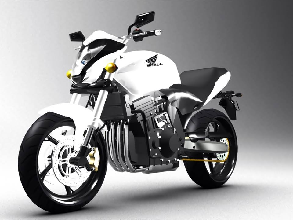 Honda - Hornet 3d art