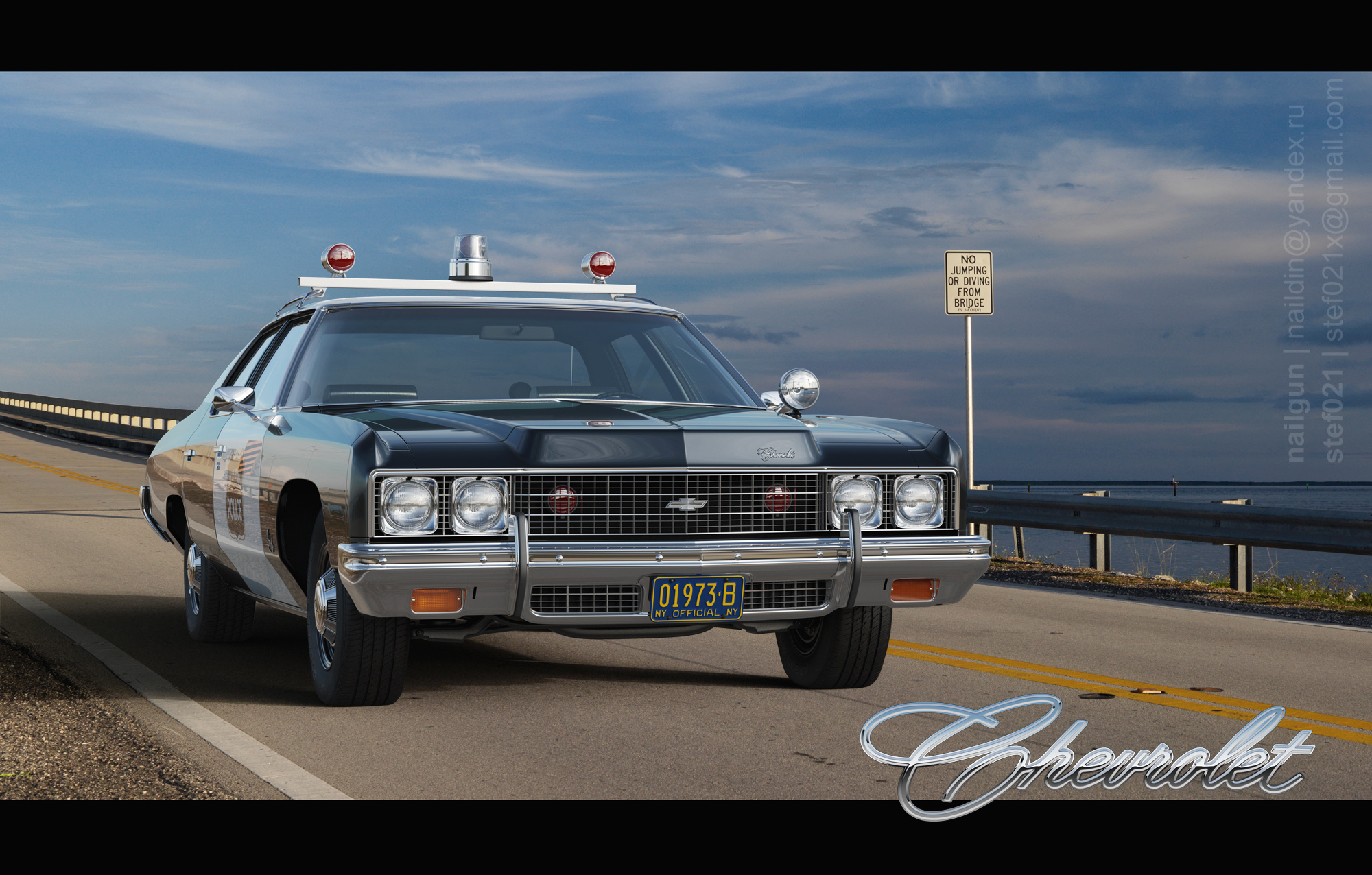 Chevrolet Bel Air `73 Police 3d art