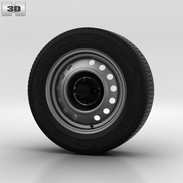 Daewoo Nexia Wheel 14 inch 001 3d model
