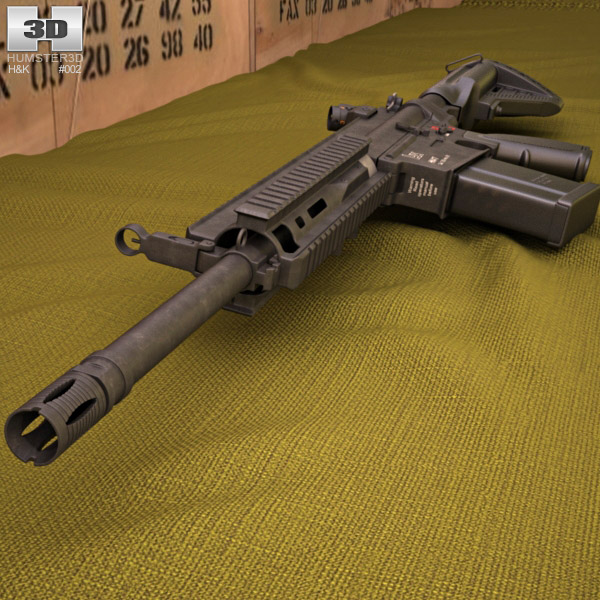 Heckler & Koch HK417 3d model