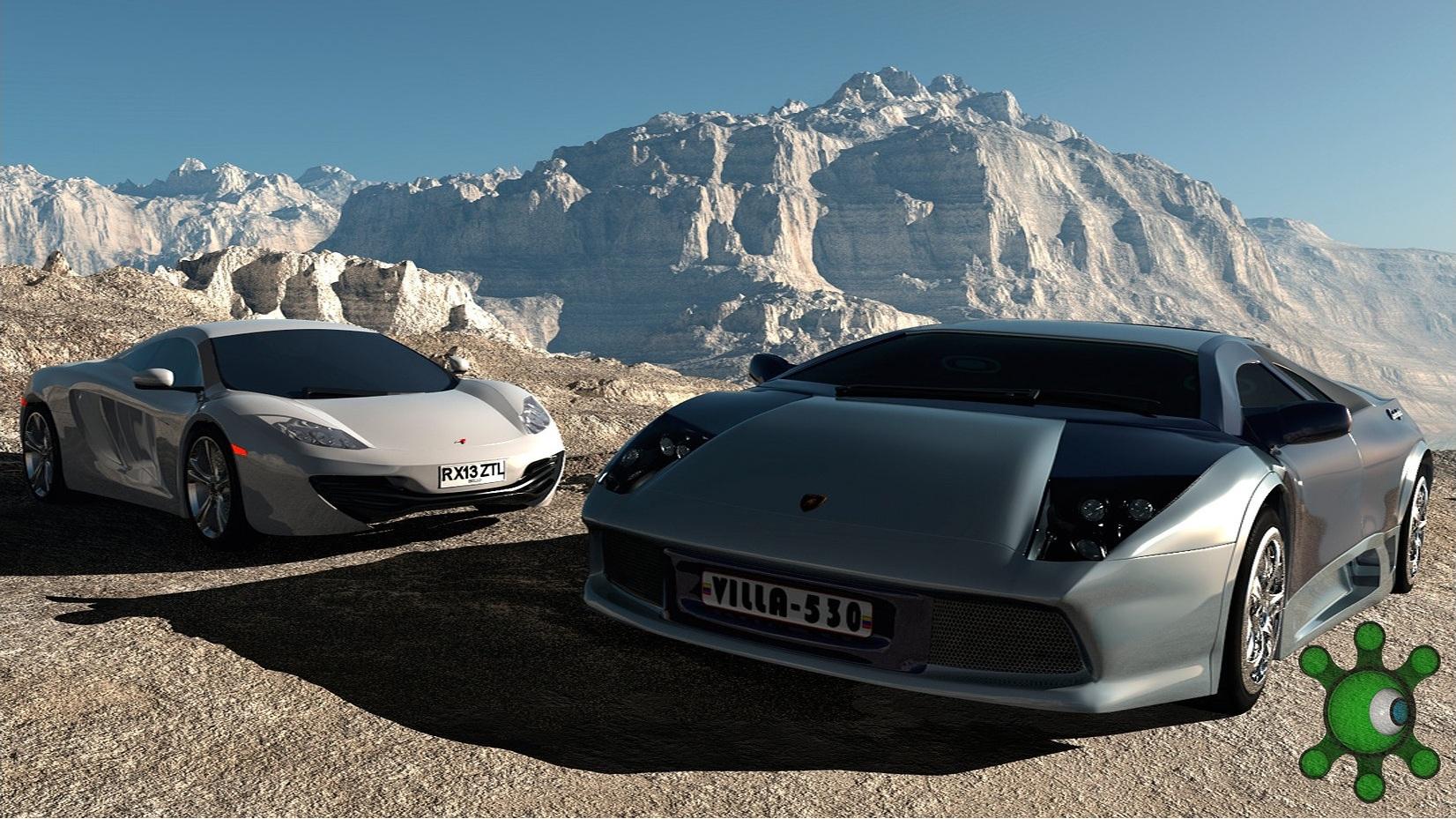 Lamborghini Murciélago Mclaren 3d art