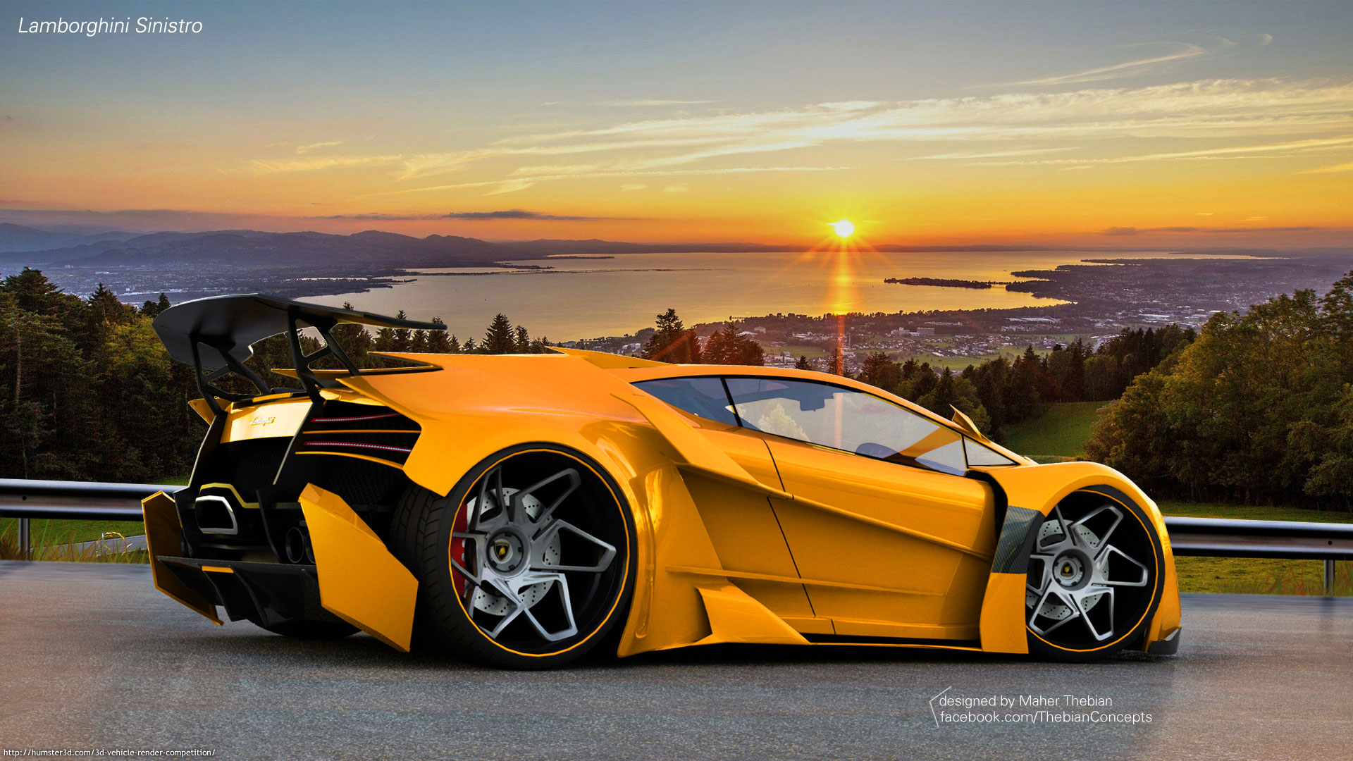 Lamborghini Sinistro 3d art