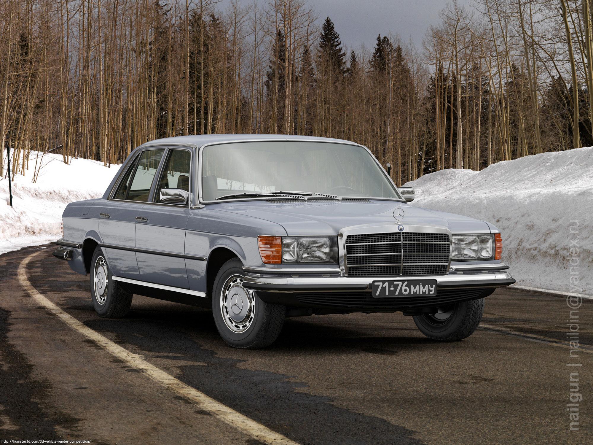 Mercedes W116 350SE 3d art