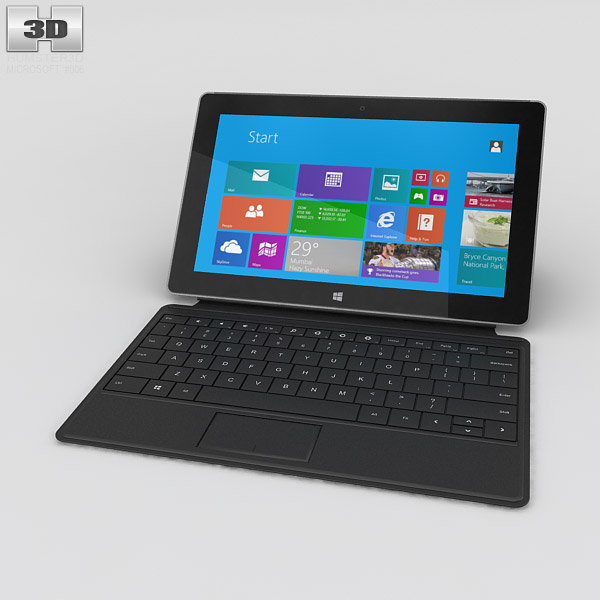 Microsoft Surface 2 with Type Cover 3d model
