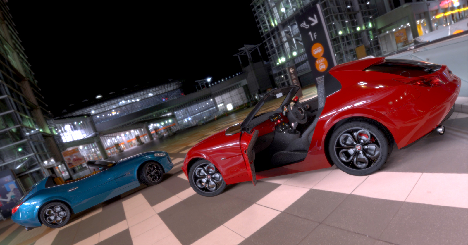 Modern Fiat Barchetta 3d art