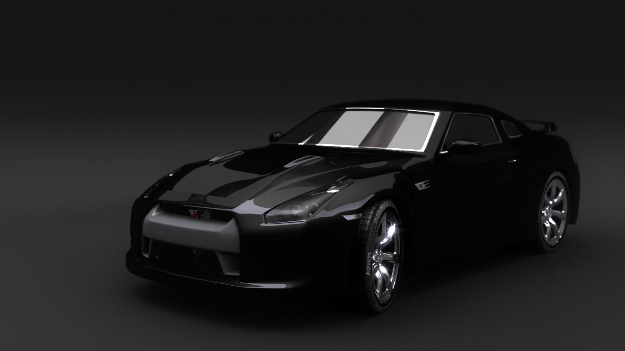 Nissan GT-R 3d art