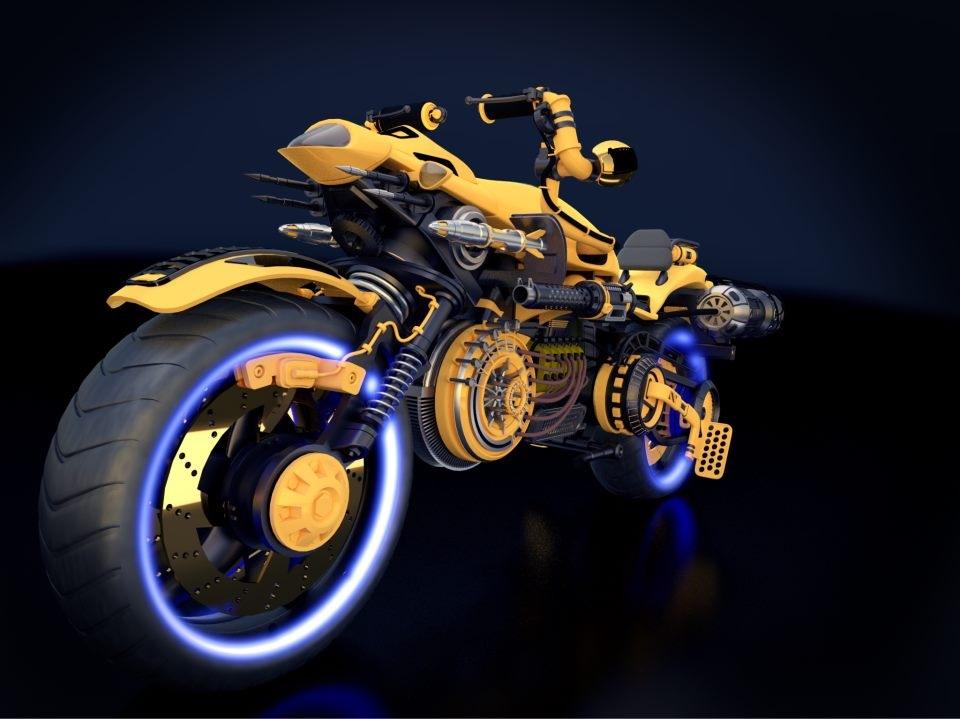 Robotic/Steampunk style Bike