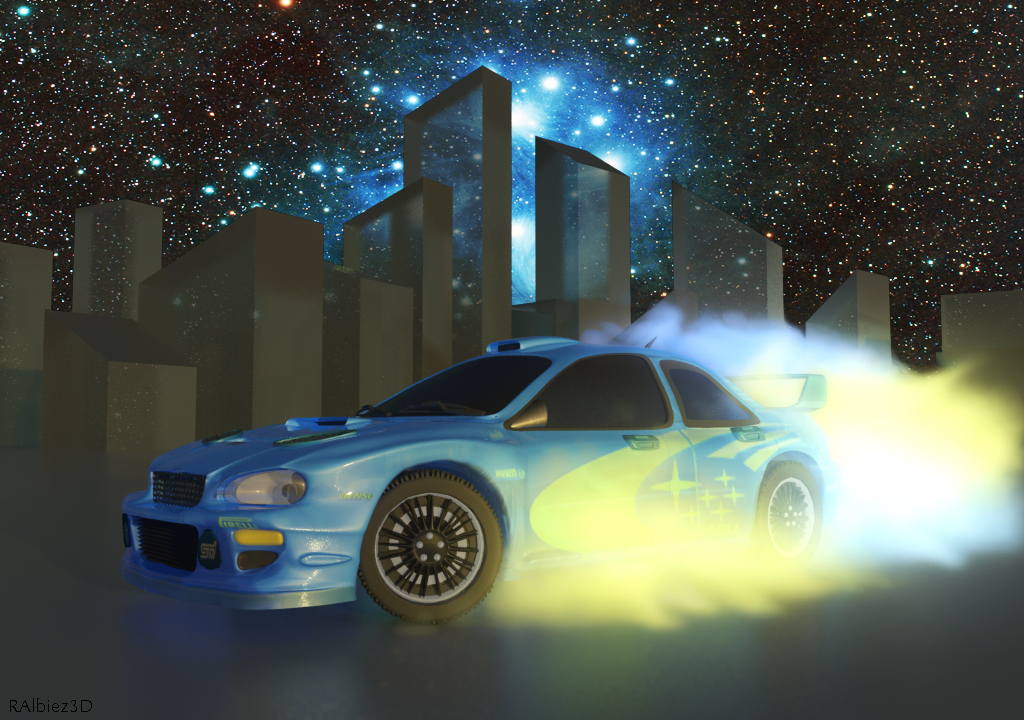 Subaru Impreza in space
