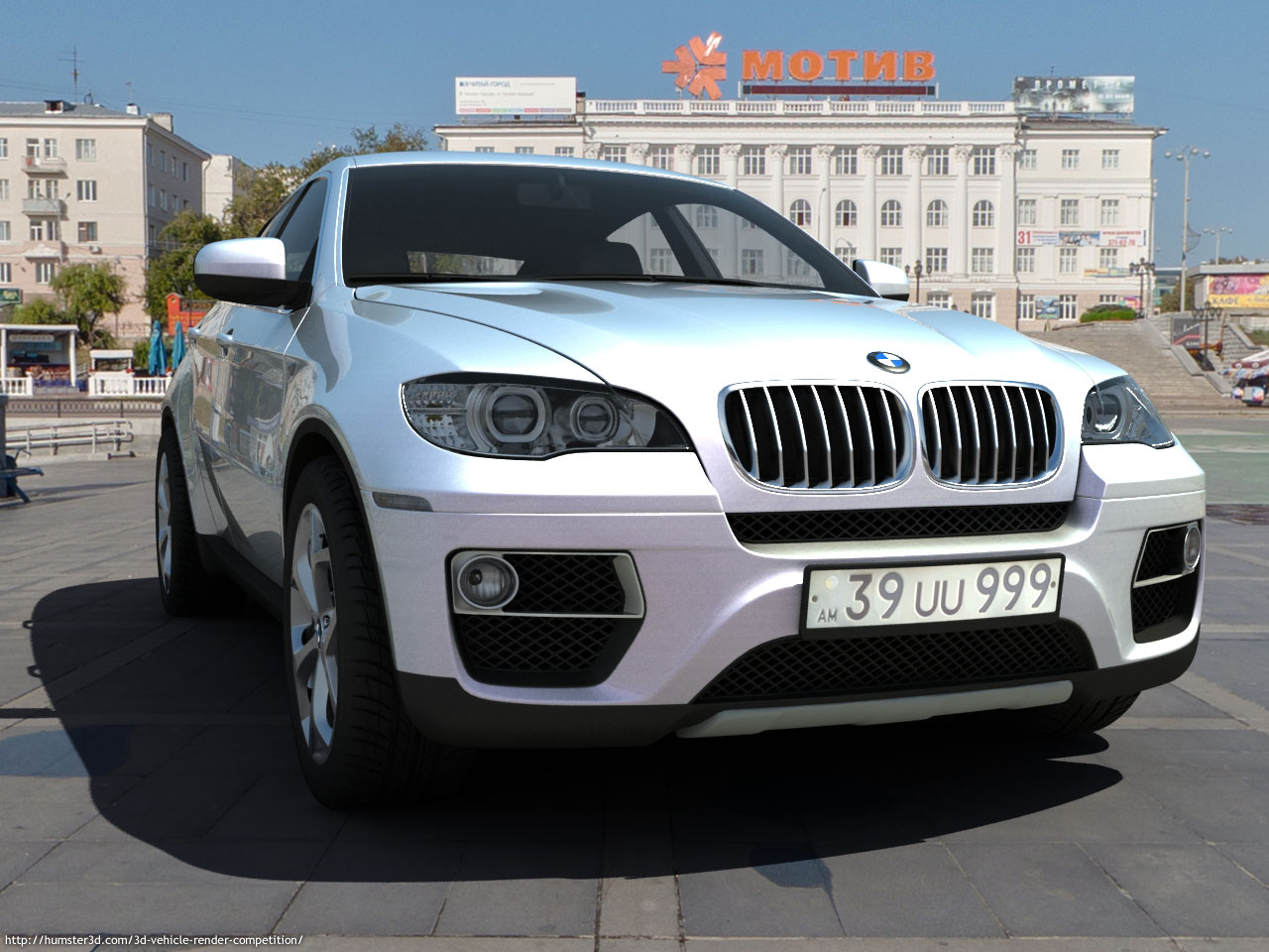 The BMW X6M 2013 3d art