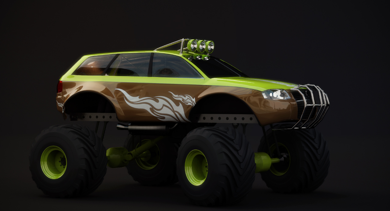 Big fat Audi Monstertruck
