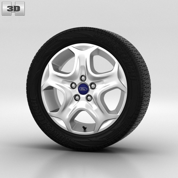 Ford Focus Wheel 15 inch 001 3d model