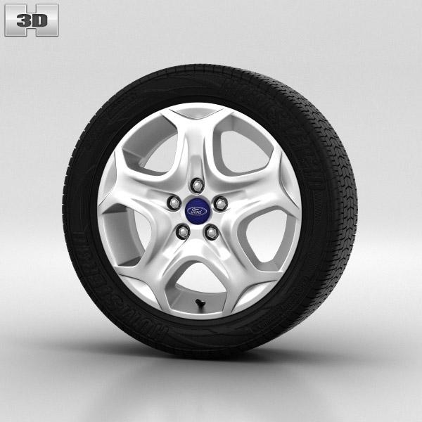 Ford Focus Wheel 15 inch 001 3d model