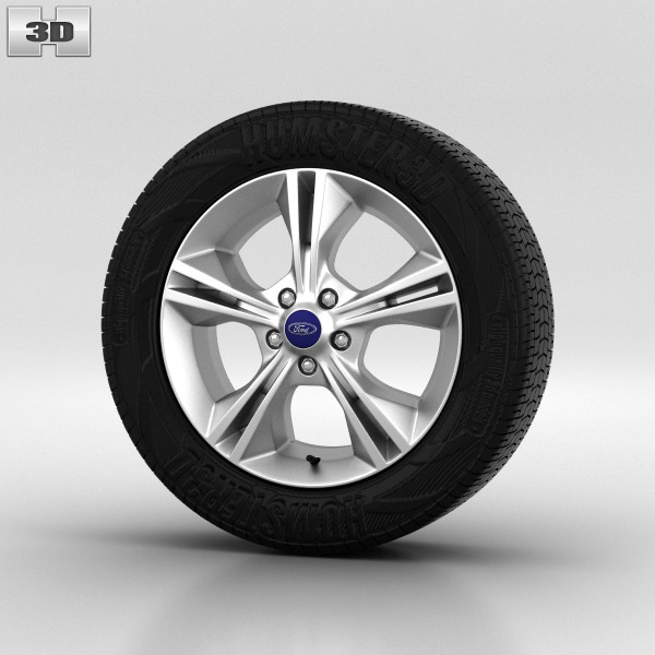Ford Focus Wheel 16 inch 002 3d model
