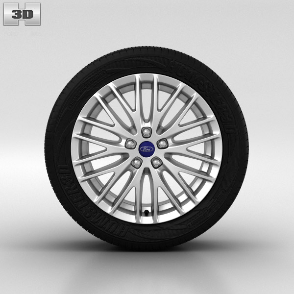 Ford Focus Wheel 17 inch 002 3d model