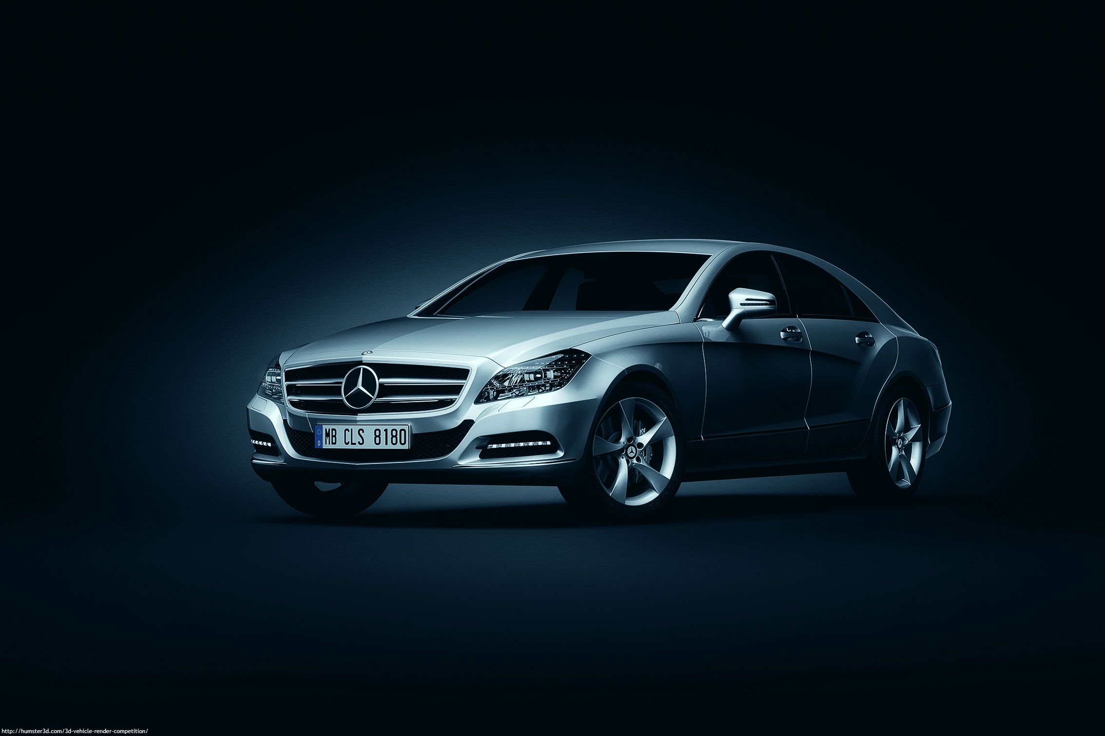 Mercedes Benz CLS 3d art