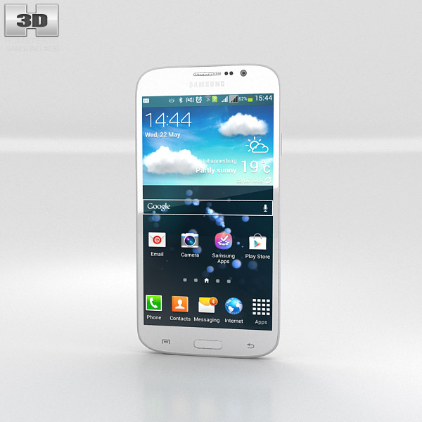 Samsung Galaxy Mega 5.8 White 3d model