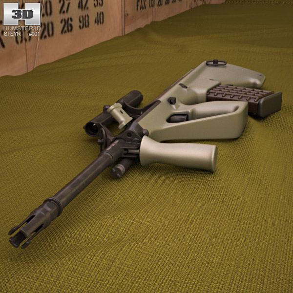 Steyr AUG A1 3d model