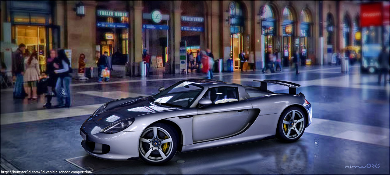 CG rendering of Porsche 911 Carrera GT