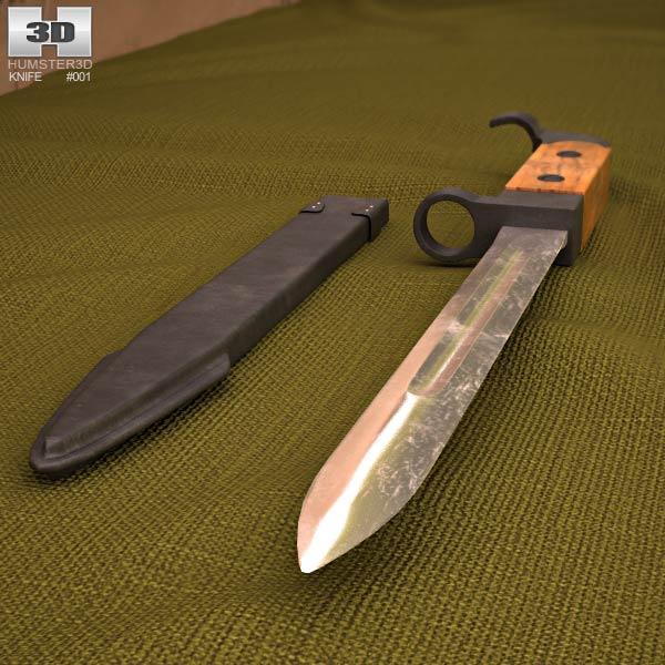 AK-47 bayonet 3d model
