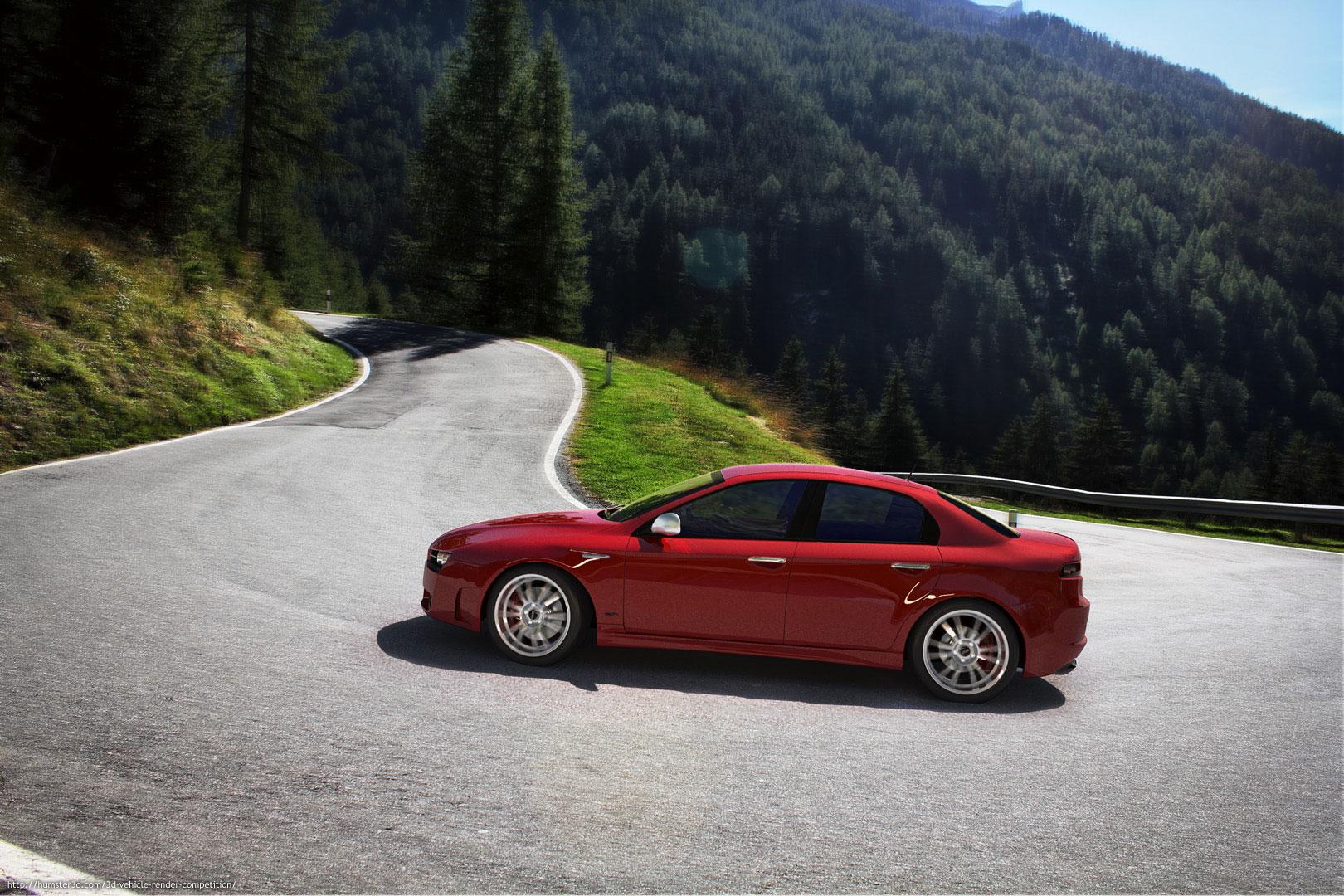 Alfa Romeo 159 3d art