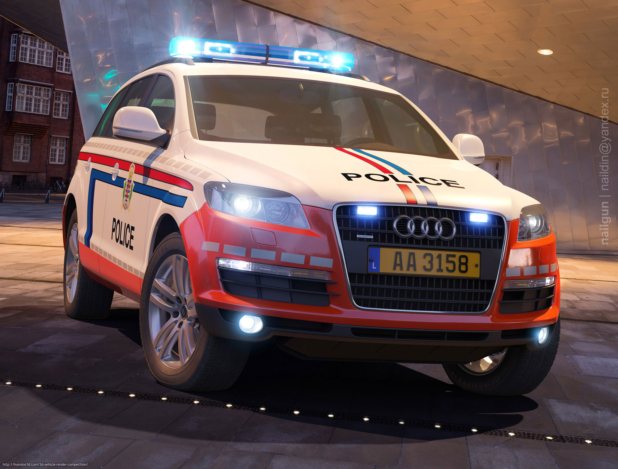 Audi Q7 Holland Police 3d art
