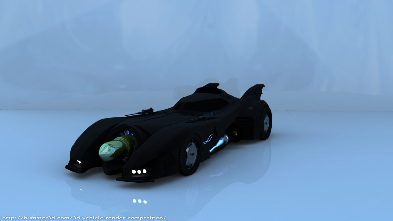 A model of the 1989 Batmobile 3d art