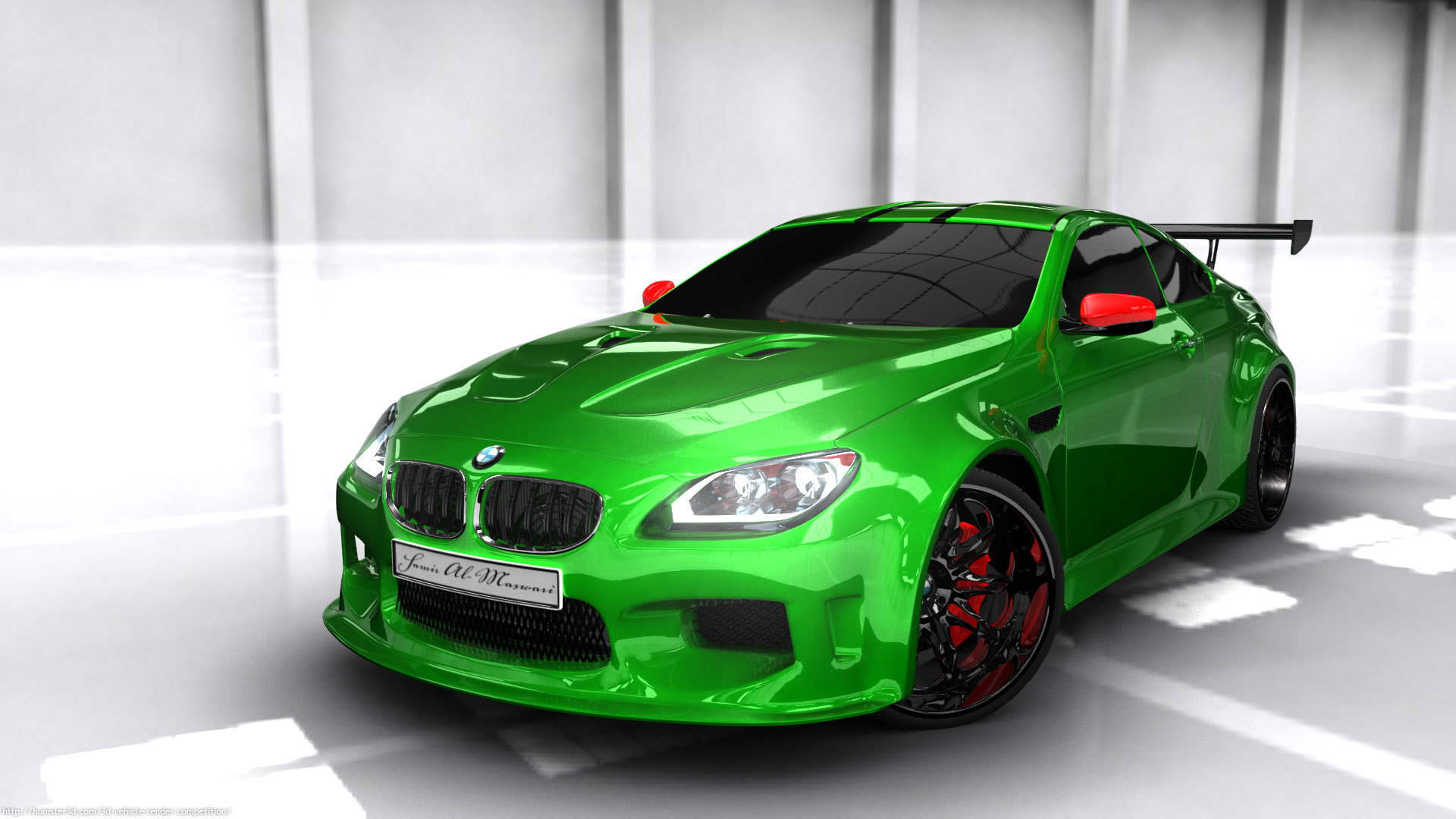 Bmw m6 tuned 3d art