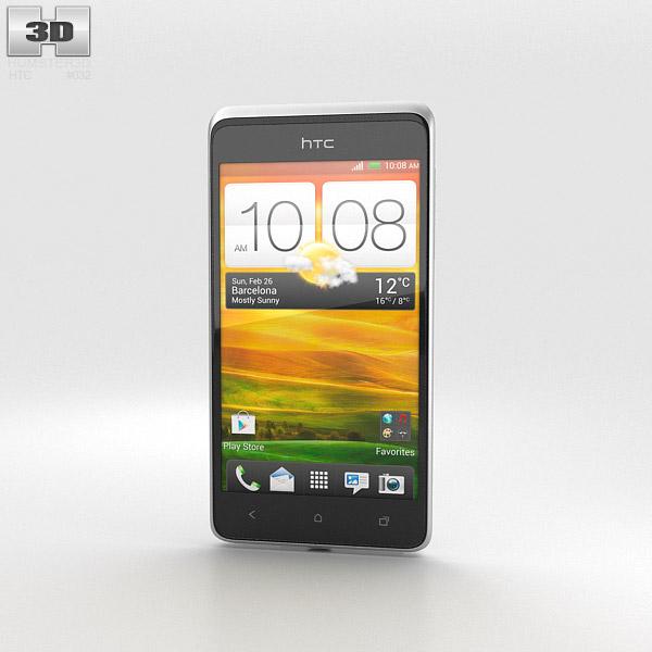 HTC Desire 400 White 3d model