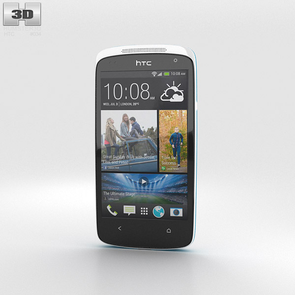 HTC Desire 500 Glacier Blue 3d model