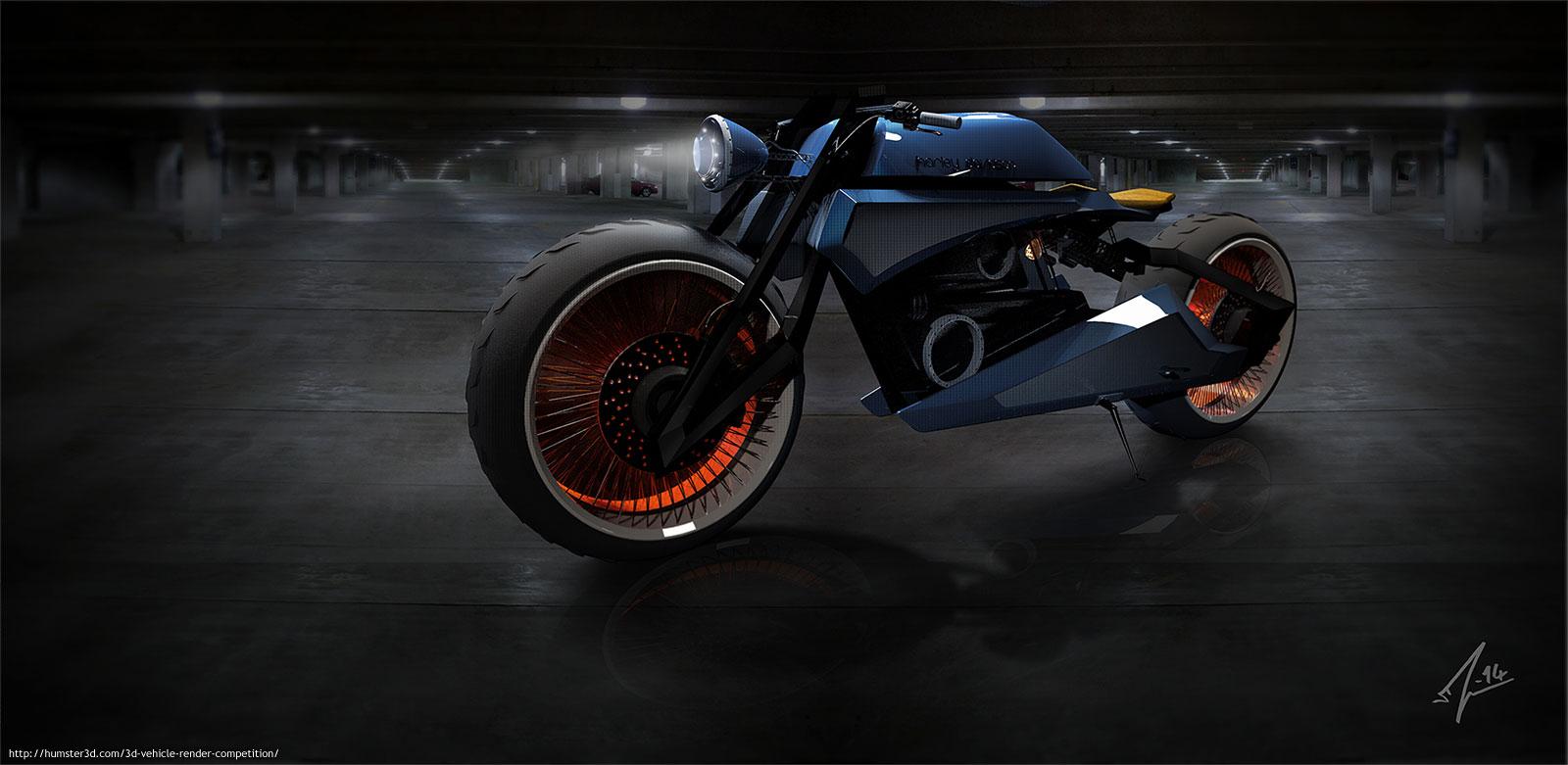 Harley-Davidson concept 3d art