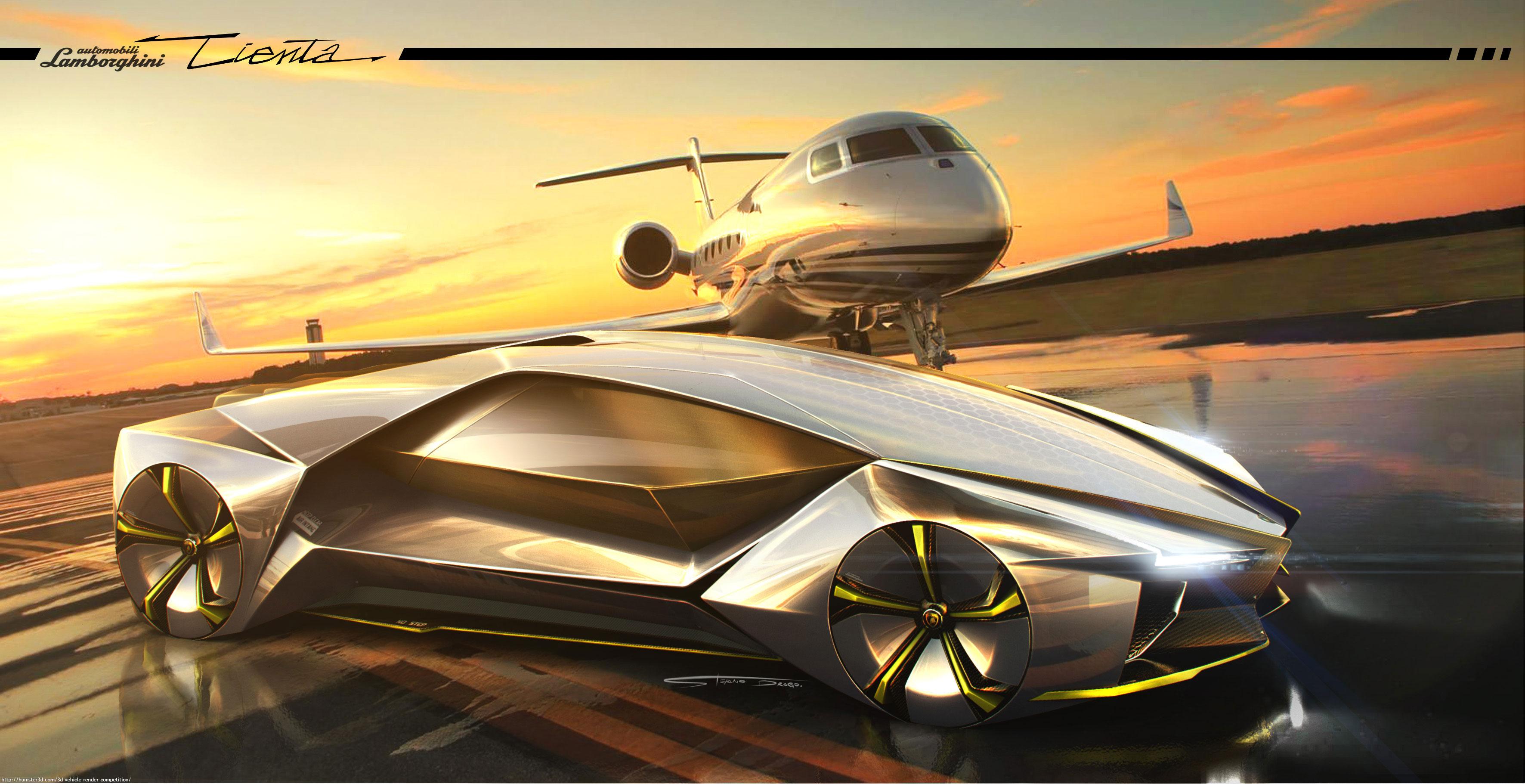 Lamborghini Tienta Concept 3d art
